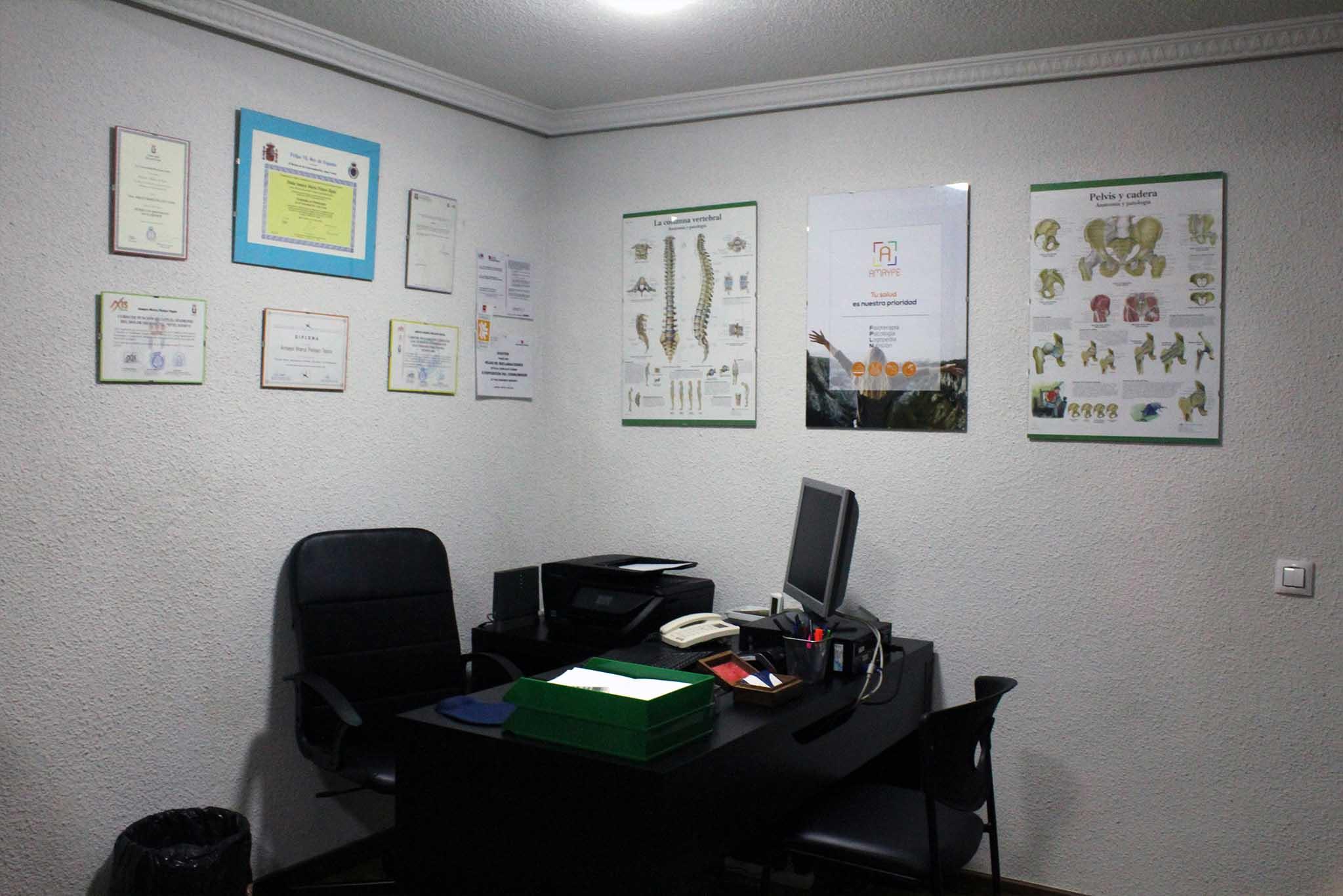 Sala de Recepción en Centro Amaype en Alcorcón (Madrid)